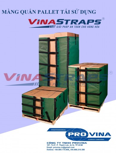 REUSABLE PALLET WRAPPER, PE STRETCH FILM REPLACEMENT SOLUTION.